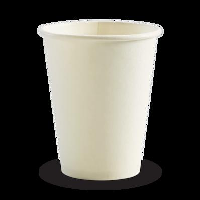 390ml/12oz(90mm) White Single wall Biocup