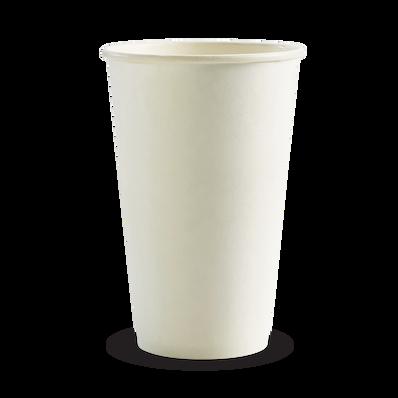 510ml/16oz(90mm) White Single Wall Biocup