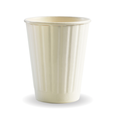 255ml/8oz(80mm) White Double Wall Biocup