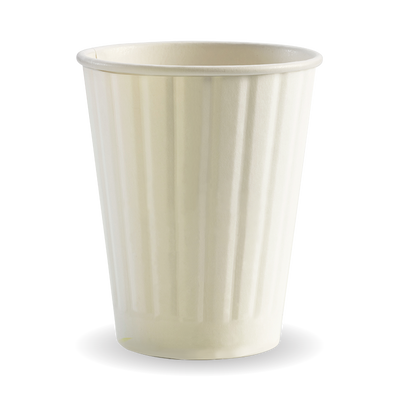 390ml/120z(90mm) White Double Wall Biocup