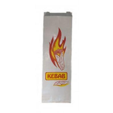 Printed White Foil Kebab Bag