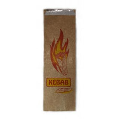 Printed Brown Foil Kebab Bag