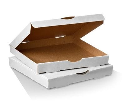 "13"" White Pizza Box"