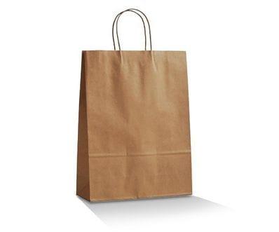 Medium Brown Takeaway Bag