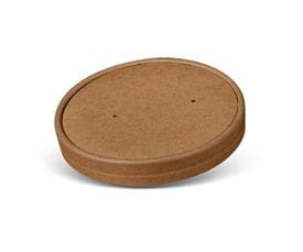 26/32oz Brown Kraft Paper Bowl Lid