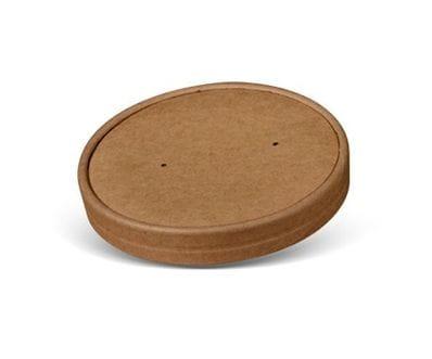 26/32oz Brown Kraft Paper Bowl Lid