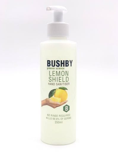 250ml Bushby Lemon Shield Hand Sanitiser