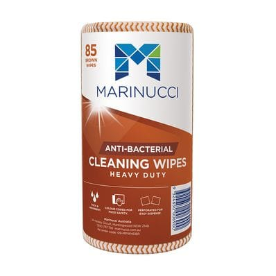 Heavy Duty Anti-Bacterial Brown Wipes