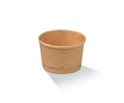 8oz/250ml PLA Kraft Paper Bowl