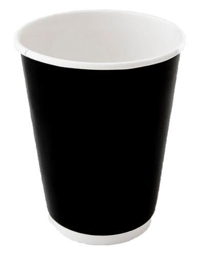 8oz Double Wall Gloss Black Cup