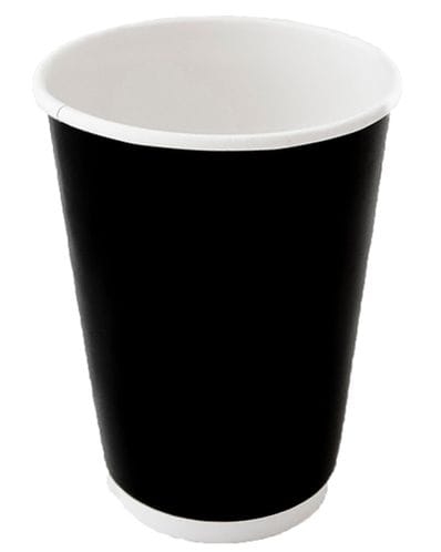 12oz Double Wall Gloss Black Cup