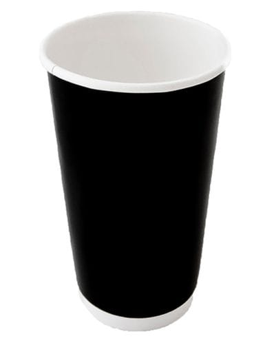 16oz Double Wall Gloss Black Cup