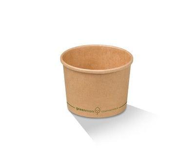 12oz/370ml PLA Kraft Paper Bowl
