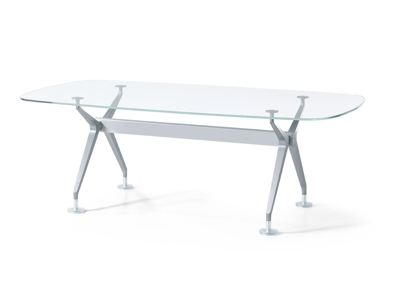 Silver table system by Interstuhl