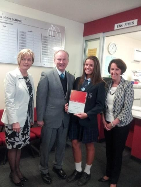ABORIGINAL STUDENT OF THE YEAR FOR RIVERSTONE ELECTORATE