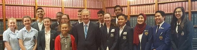 RIVERSTONE SENIOR SCHOOL LEADERSHIP STUDENTS VISIT NSW PARLIAMENT HOUSE