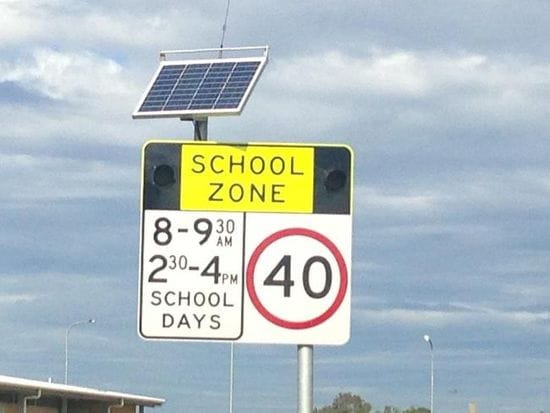 MOTORISTS REMINDED TO SLOW DOWN AROUND SCHOOLS AND KEEP OUR KIDS SAFE