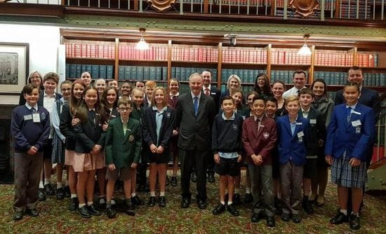 LOCAL PRIMARY SCHOOL LEADERSHIP STUDENTS VISIT NSW PARLIAMENT HOUSE