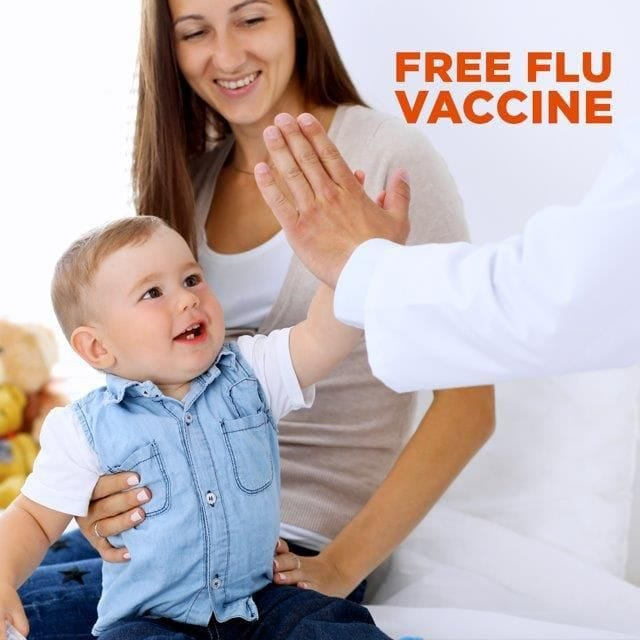 KIDS UNDER 5 TO GET FREE FLU JAB
