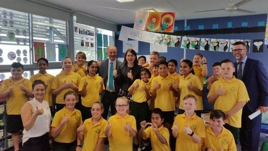 NSW PREMIER VISITS SCHOFIELDS PUBLIC SCHOOL