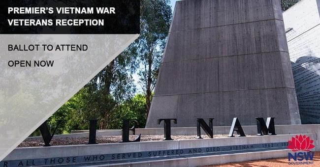 RECEPTION TO HOST VIETNAM WAR VETERANS