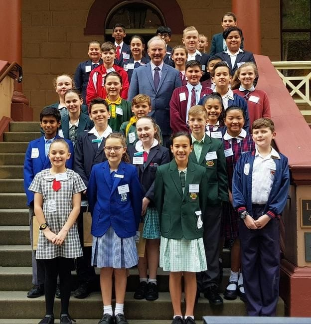 JUNIOR SCHOOL LEADERSHIP STUDENTS VISIT NSW PARLIAMENT HOUSE