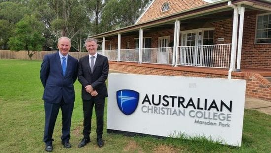$950,000 FOR NEW FACILITIES AT AUSTRALIAN CHRISTIAN COLLEGE MARSDEN PARK