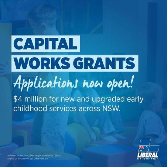 COMMUNITY-BASED PRESCHOOLS URGED TO APPLY FOR CAPITAL WORKS GRANTS