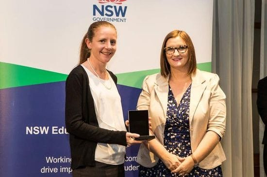 TEACHER AT THE PONDS RECOGNISED AS ONE OF THE STATE'S FINEST