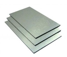 A3 Size Aluminium Composite Panel 420 x 297mm x 3mm Silver Brushed.