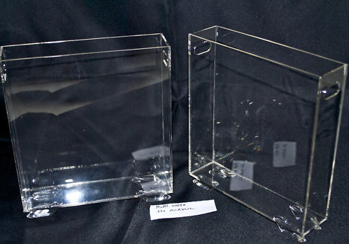 Acrylic Perspex Clear A4 document Case Magazine Stand.