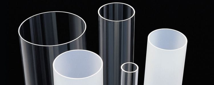 Acrylic Extruded Satin Ice Tube Dia.50 to 150mm