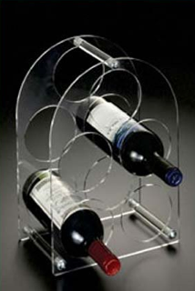 Acrylic Clear Wine Rack Display 5 holders