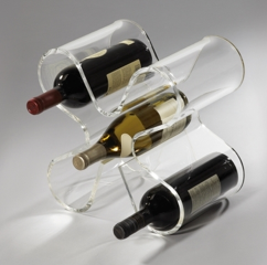 Acrylic Clear Perspex Wine Rack Display 5 holders Stand