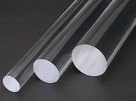 Acrylic Extruded Clear Rod Dia. 3 to 5mm Pack of 10