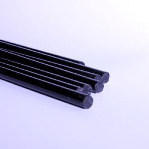 Acrylic Extruded Black Rod Dia.8 to 18mm