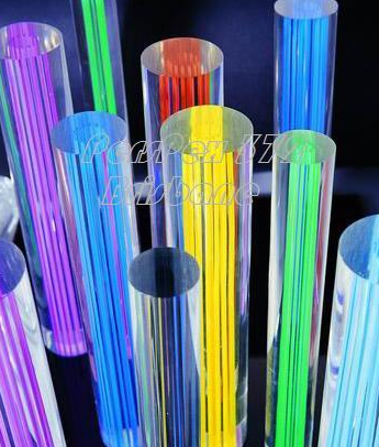 25mm x 1M long Acrylic Green rods Line Supplier.PMMA