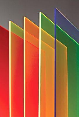 Acrylic Cast Fluorescent Colour Sheet