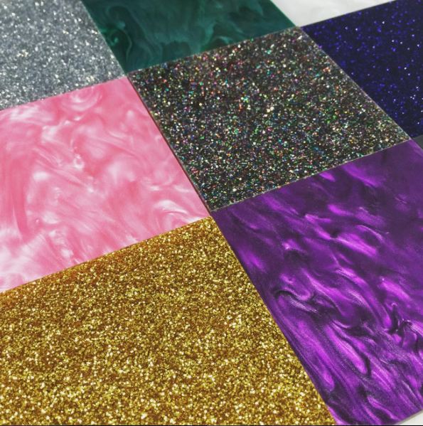 Coloured Cast Pearlescent Acrylic Sheet