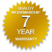 Seven year quality workmanship warranty -  dapco,roofing,metal roofing,re-roofing,re roofing,reroofing,colorbond roofing,commercial roofing,residential roofing,gutter mesh,gold coast,roof