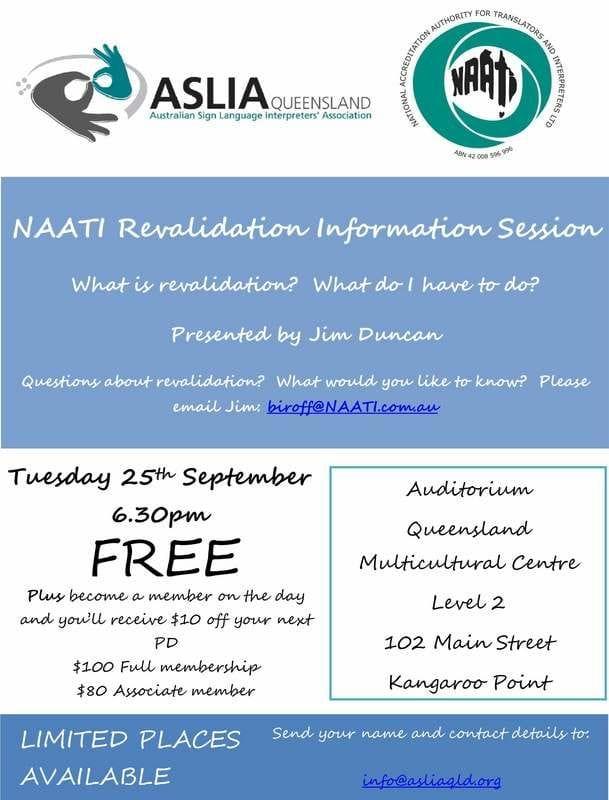 ASLIA QLD - NAATI Workshop
