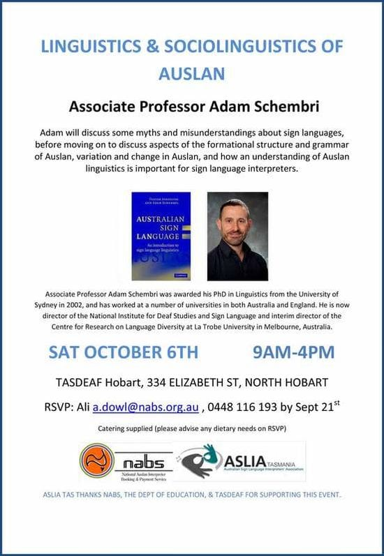 Linguistics and Sociology of AUSLAN Workshop
