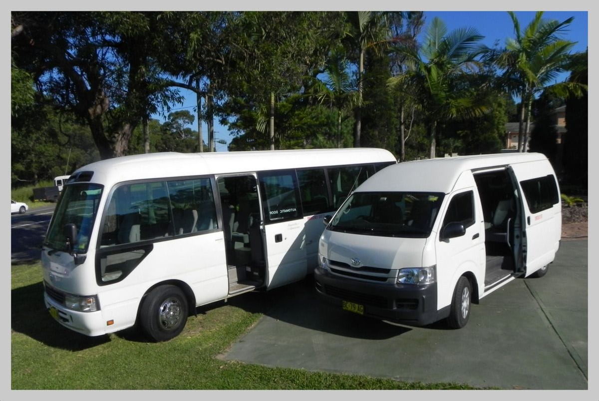 One of our shuttle buses for airport transfers in Sydney