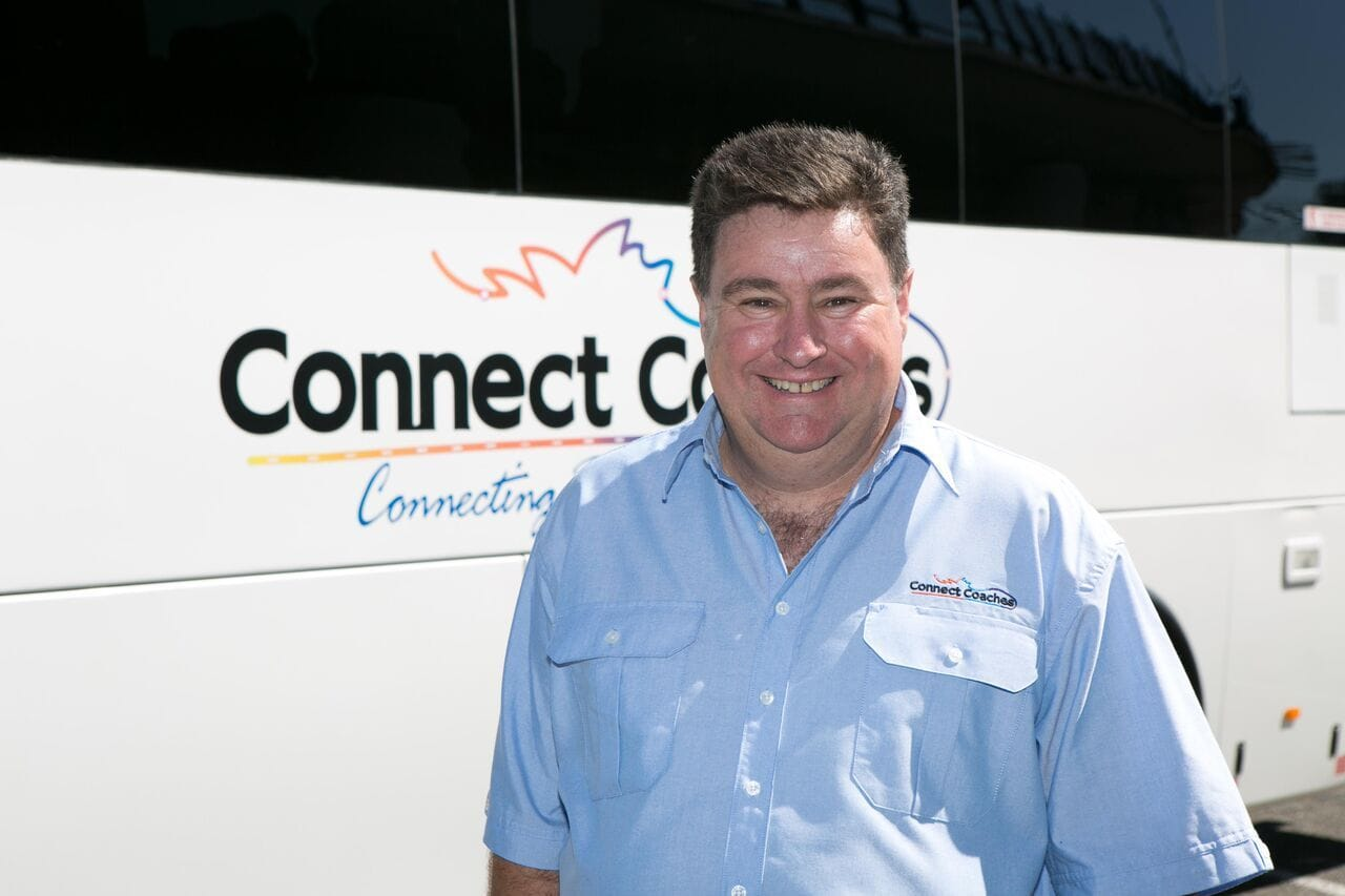 Connect Coaches Bus Authority Trainer Liam Green