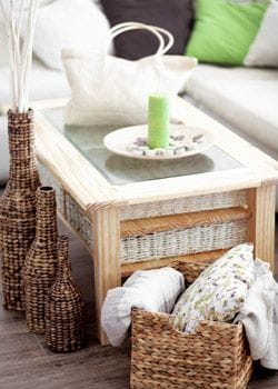 Jute Bag and Woven Baskets