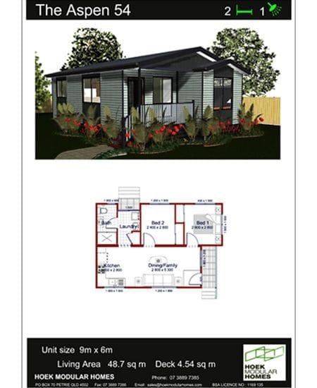 The Aspen 54 Home Design