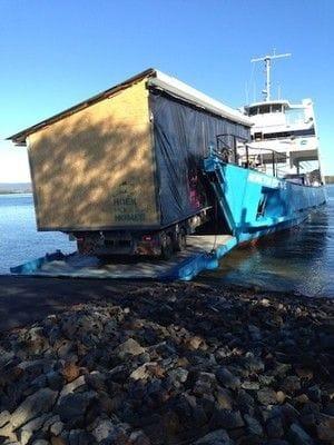 A house on a ferry
