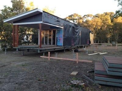 Half the house built