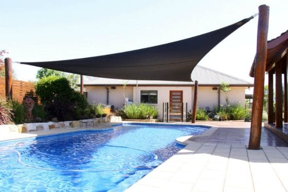 Shade sails and pergolas