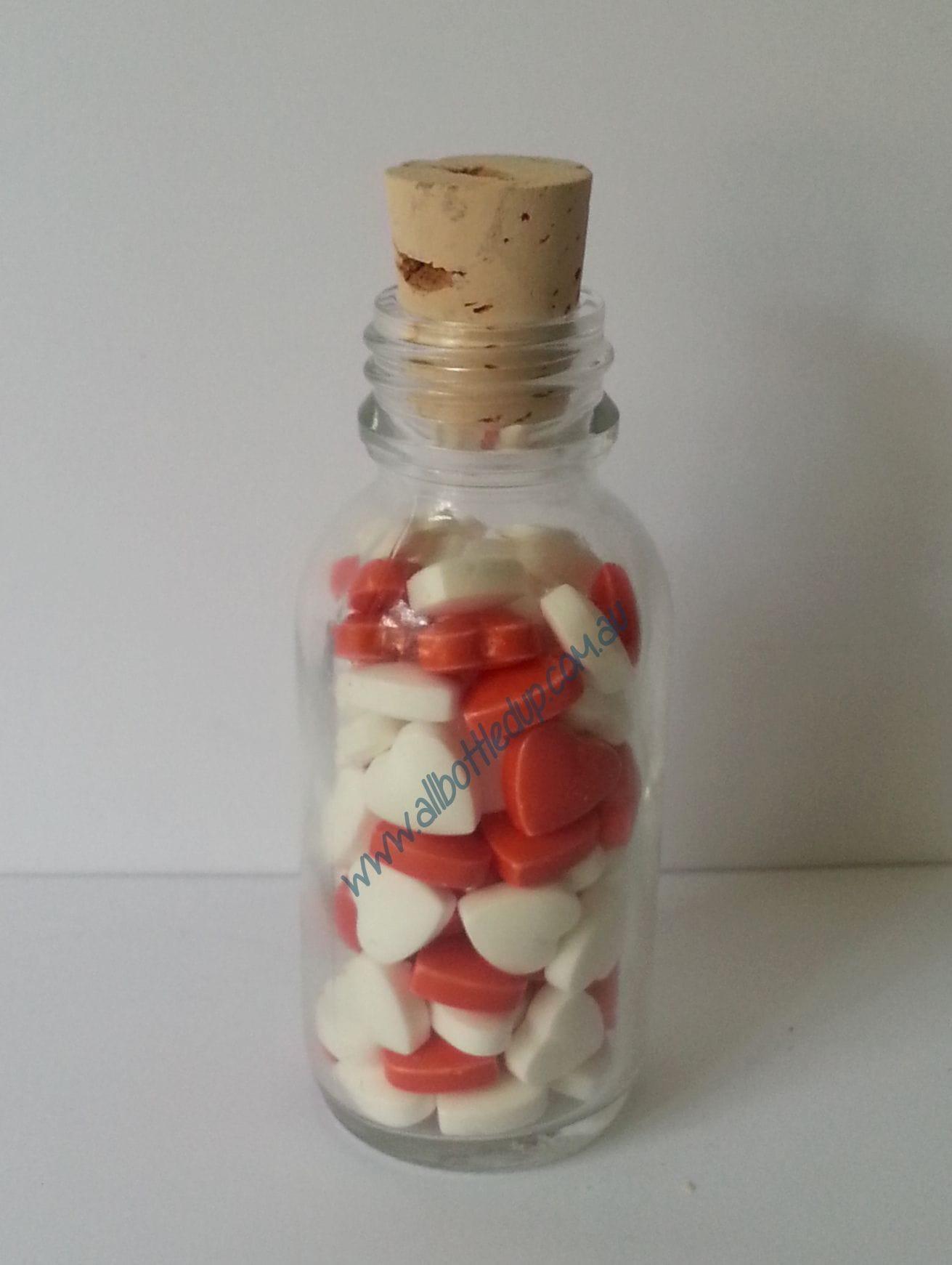 50ml Glass Lolly Bottle | Hearts